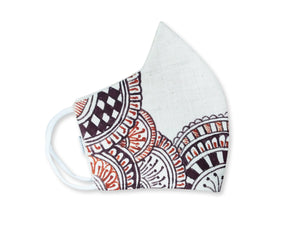 100% Pure Cotton with Madhubani Painting 3 Layer Reusable Mask