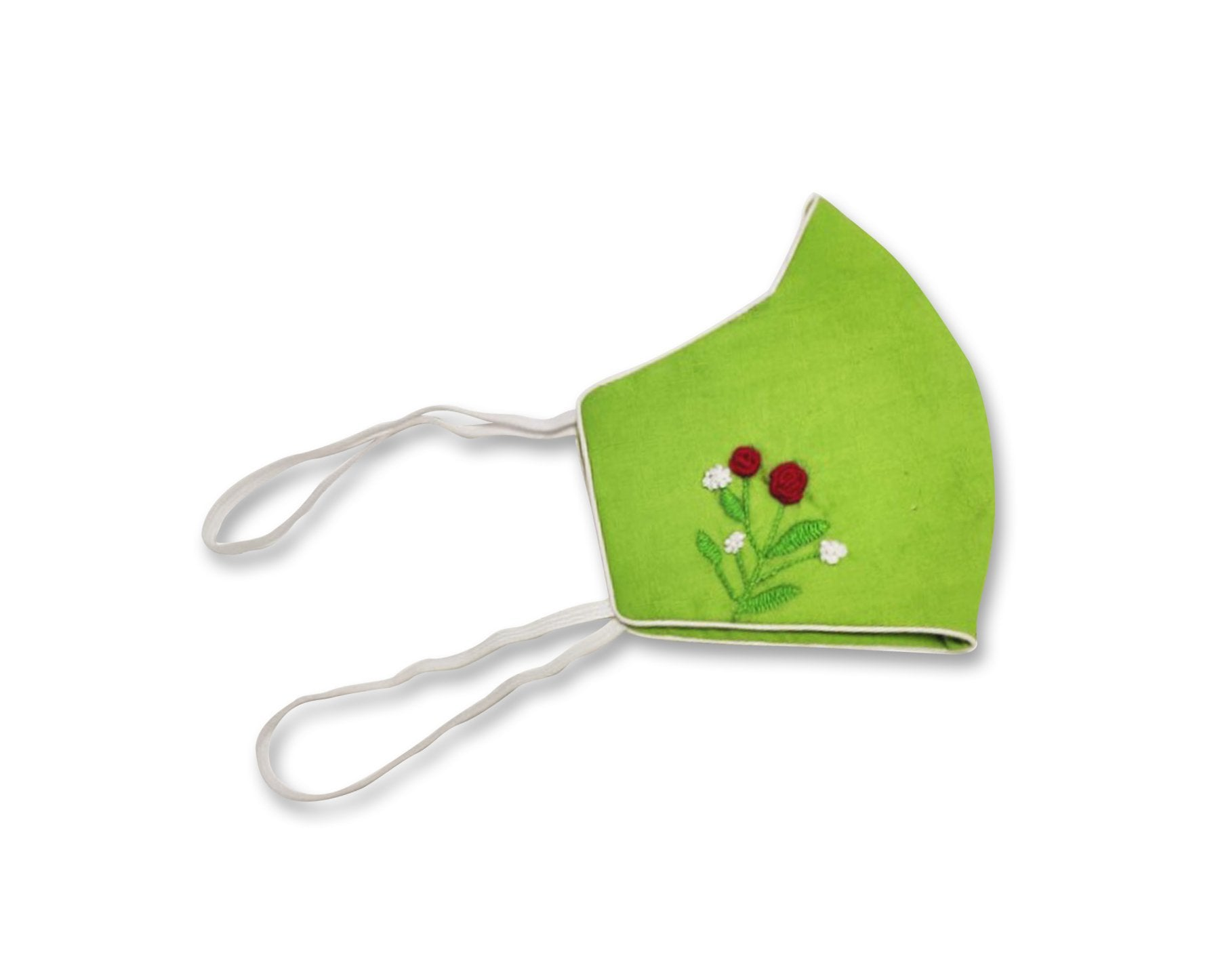 100% Cotton Hand Embiodred 3 Layer Reusable Mask