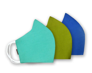 Cotton Linen 3 Layer Reusable Mask Pack of 3