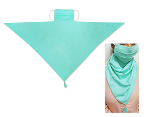 100% Pure Cotton 2 Layer Reusable Scarf Mask with Tissue Pocket