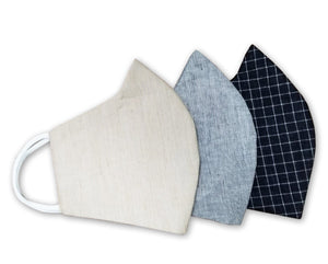 100% Pure Cotton 3 Layer Reusable Mask Pack of 3