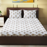 Load image into Gallery viewer, 100% Handmade  Paisley  Pattern sanganeri Block Print King Size Bedsheets comes  with 2 Pillow covers
