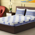 Load image into Gallery viewer, 100% Handmade  Ethnic pattern sanganeri Block Print King Size Bedsheets comes  with 2 Pillow covers