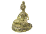 "Load image into Gallery viewer, Dokra showpiece - Sitting Buddha 5""x4.25"""