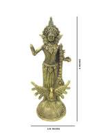 "Load image into Gallery viewer, Dokra showpiece - Goddess Saraswati 9""x4.25"""