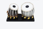 "Load image into Gallery viewer, Nakshi Wooden Dugi Tabla  Set Handcrafted   Miniature Musical Instrument Showpiece 4.5""x3""x2.25"""