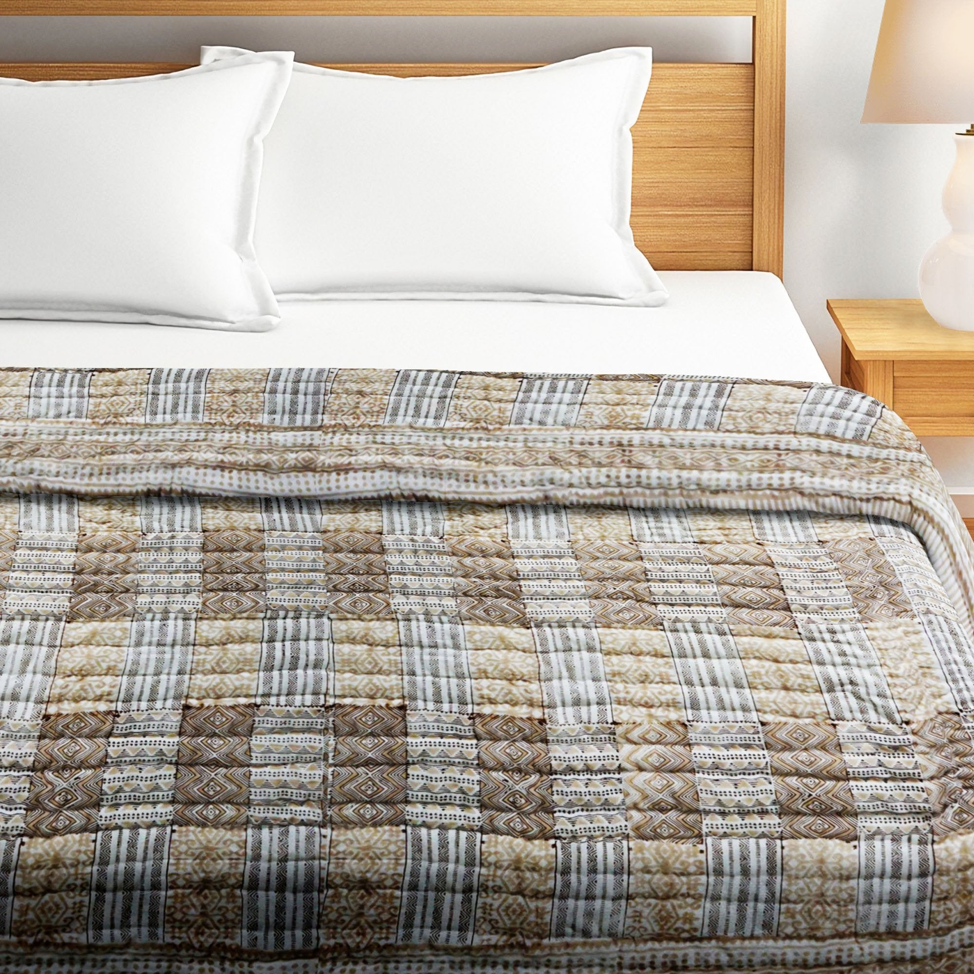 100% Cotton HandBlock Print Double Bed Quilt