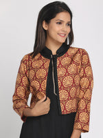 Load image into Gallery viewer, Multicoloured Silk Open Front Cropped Jacket