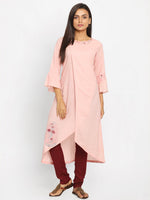 Load image into Gallery viewer, Pink Printed A-Line Kurta