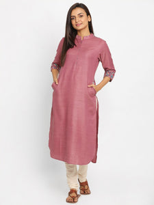 Printed Mauve Long Kurta