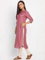 Load image into Gallery viewer, Printed Mauve Long Kurta