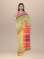 Load image into Gallery viewer, Cotton Handwoven & Hand Block Printed Saree
