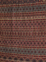 Load image into Gallery viewer, Navy Blue Red Handblock Print Chanderi Saree