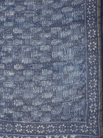 Load image into Gallery viewer, Blue Off White Handblock Print Chanderi Saree