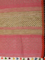 Load image into Gallery viewer, Multicolour handwoven striped cotton saree