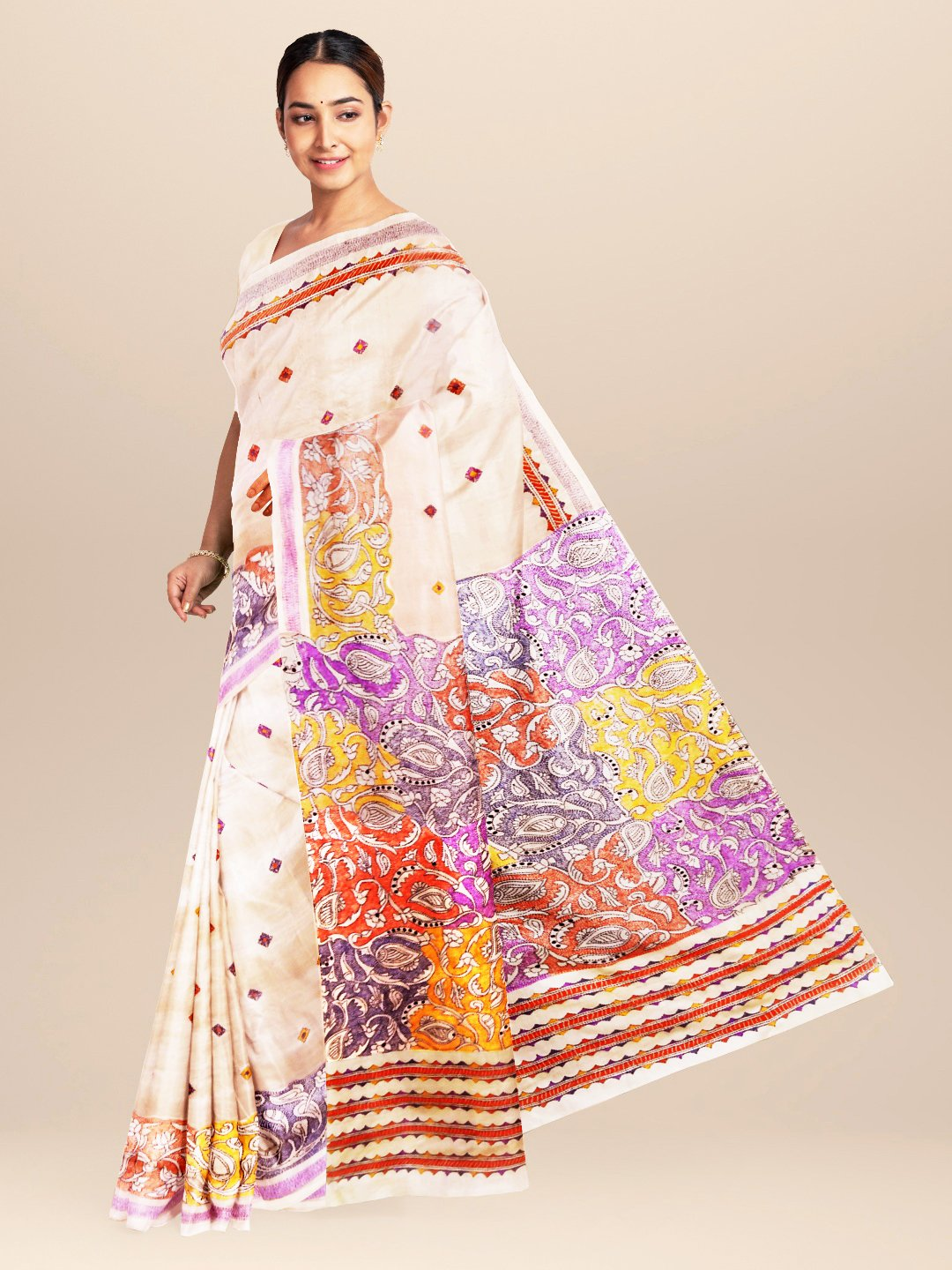Hand Kantha Sraee on Tussar Silk