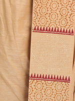 Load image into Gallery viewer, 100% Cotton Beige Hand Block Printed Stiched Dhoti