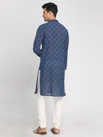 Load image into Gallery viewer, 100% Cotton Hand Block Printed Indigo Long Kurta