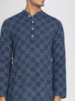 Load image into Gallery viewer, Cotton Indigo Dyed Hand Block Printed Long Kurta
