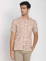Load image into Gallery viewer, 100% Cotton Half Sleeves Shirt Beige