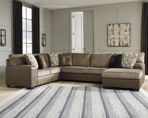 Abalone Benchcraft 3-Piece Sectional with Chaise image