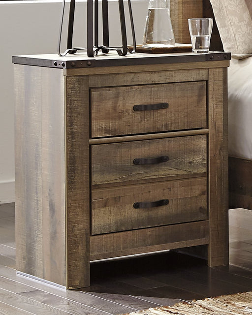 Trinell Signature Design by Ashley Two Drawer Nightstand image