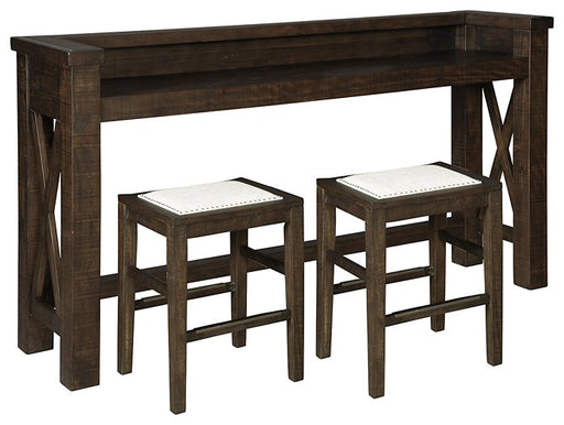 Hallishaw Signature Design 3-Piece Counter Height Dining Room Package image
