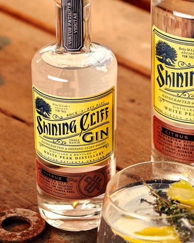 Shinning Cliff Gin kept cool with our free standing wine cooler