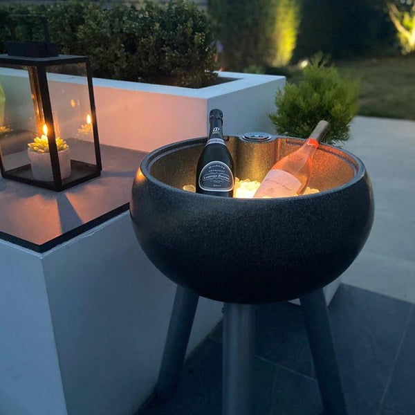 dark stone coloured outdoor drinks cooler
