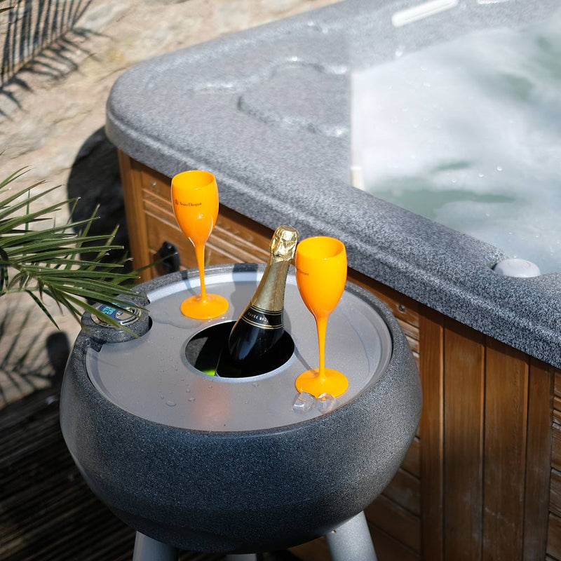 garden drinks cooler set aside a jacuzzi