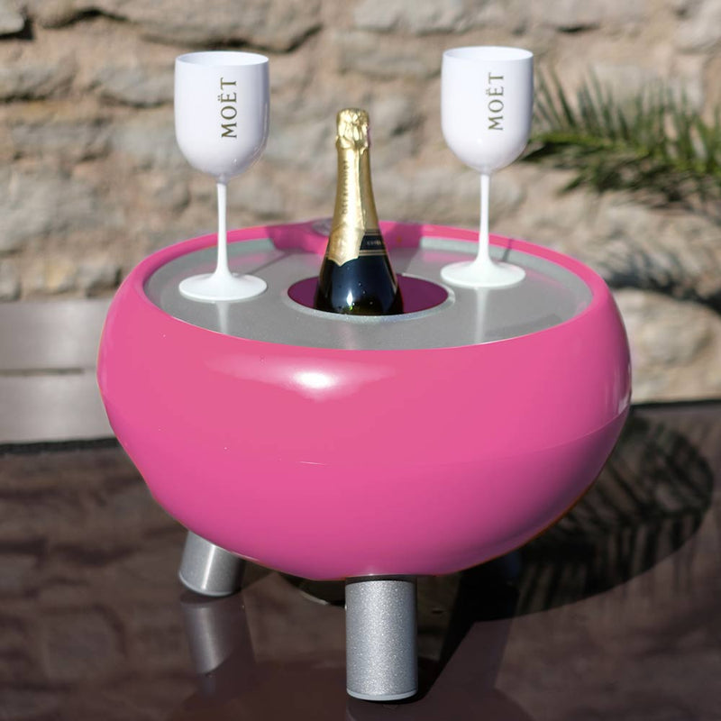 pink ice bucket with lid for garden parties
