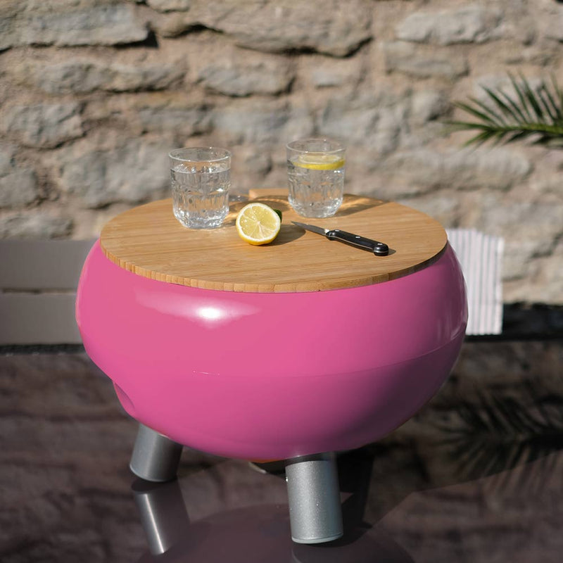 pink drinks cooler for the garden