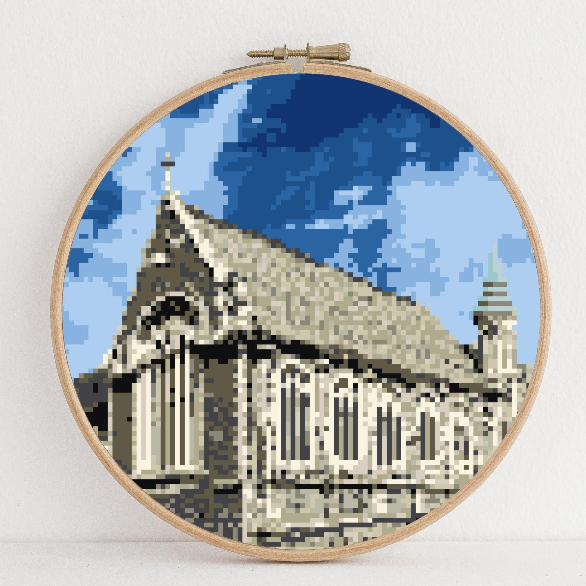 Great Hall instant download PDF cross stitch pattern