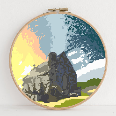 Tekapo instant download PDF cross stitch pattern