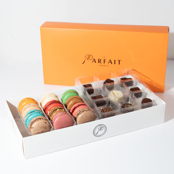 Macaron and Chocolate Bonbons Combo Box