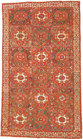 typical Turkish carpet from from the fourteenth century