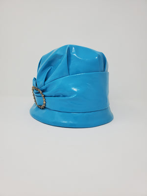Buckle Blue Rain Hat
