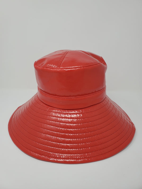 Shade Red Bucket Rain Hat