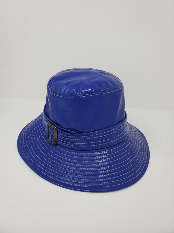Belted Royal Blue Bucket Rain Hat