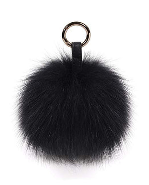 Fox-Fur Mega Pom Pom Bag Charm
