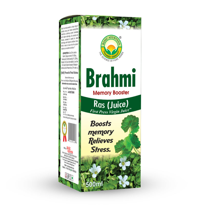 Basic Ayurveda Brahmi Ras (Juice) Memory Booster 500 Ml