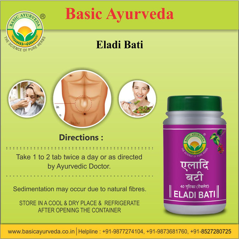 Basic Ayurveda Eladi Bati 40 Tablet