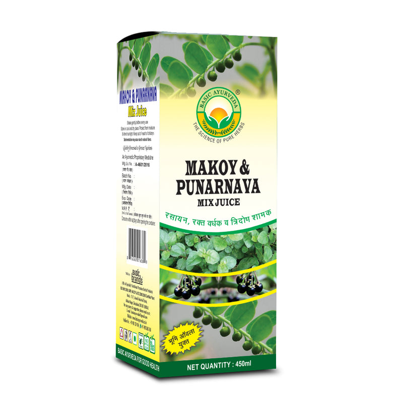 Basic Ayurveda Makoy & Punarnava Mix Juice 450 Ml