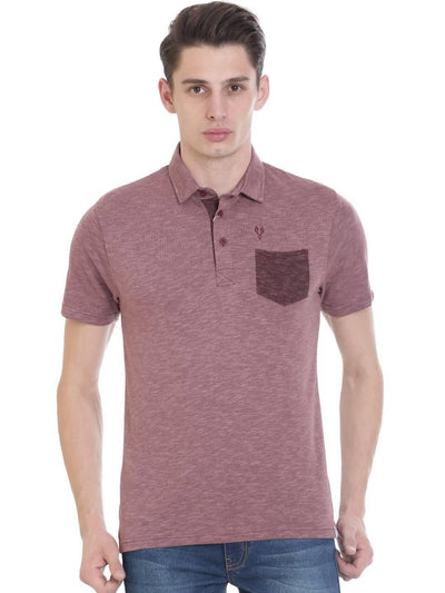 Pink Colour Polo Half Slevee T-shirts - MANERAA