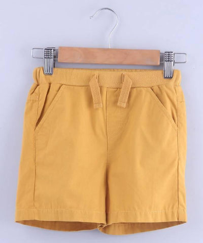 Beebay Mustard Pull-Up Bermuda Shorts - MANERAA