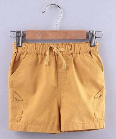 Mustard Pull Up Shorts - MANERAA