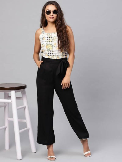 Women's Floral Jumpsuit - MANERAA