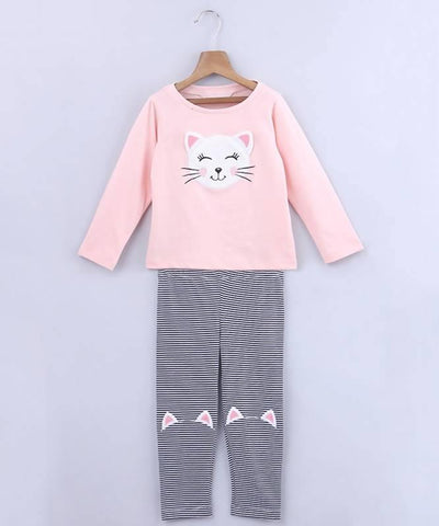 Beebay Cat T-Shirt And Legging Set - MANERAA