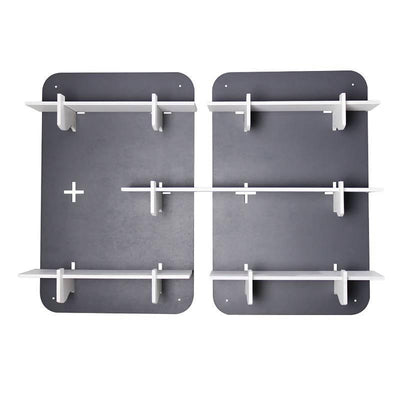 Rectangular Set of 2 Modular Shelves, Grey - MANERAA