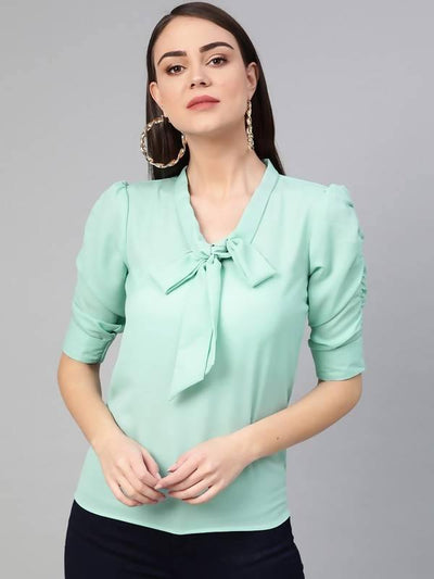 Women's Front Tie-Up Top - MANERAA